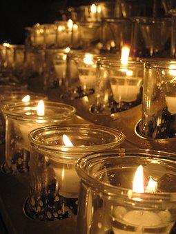 Candles, Church, Lights, Fire, Heat, Christmas, Night