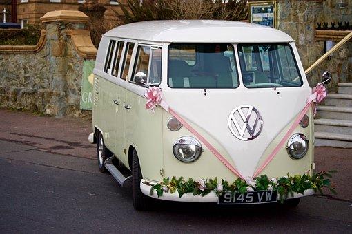 Bridal Car, Car, Classic, Vintage Car, Transporter, Van