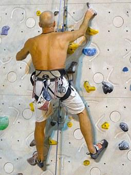 Climber, Climbing Wall, Climb, Climbing Rope