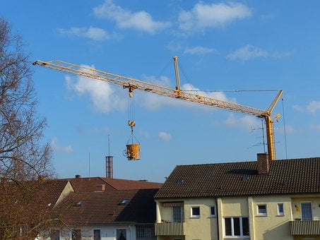 Crane, Baukran, Construction Work, House Construction
