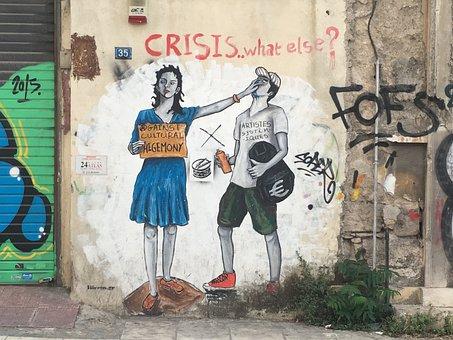 Grafitti, Crisis, Funny, Wall, Street
