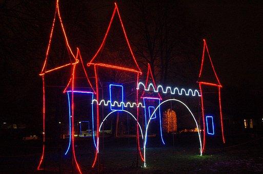 Dortmund, Westphalia Park, Festival Of Lights, Dark