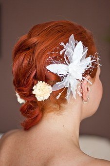 Wedding, Hairstyle, Ginger, Redhead, Hair, Decoration