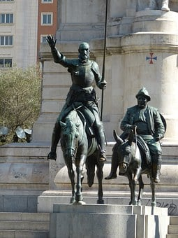 Don Quixote, Knight, Madrid, Spain, Castile
