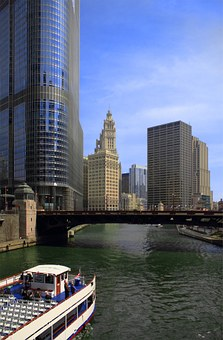 Chicago, Riverboat, Cruise, River, Downtown, City