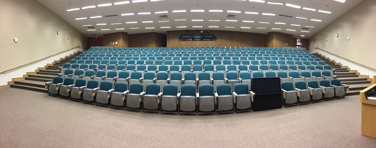 Auditorium, Classroom, Lecture, Education, Empty
