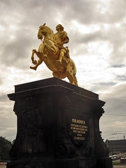 Golden, Reiter, Frederick The Strong, Dresden, Monument