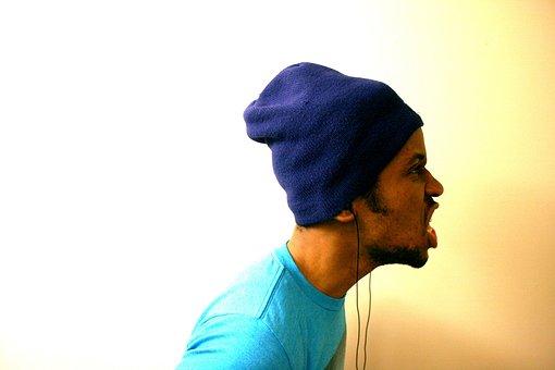 Guy, Man, Face, Hat, Toque, Headphones, Earbuds, People