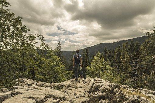 Montenegro, Hiking, Hiker, Black, Lakes, Mountains