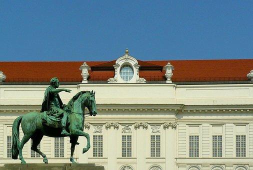 Vienna, Equestrian Statue, Reiter, Horse, Architecture