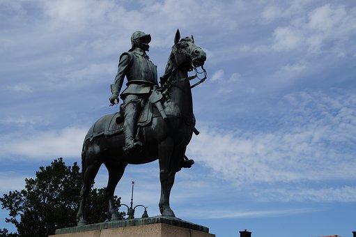 Equestrian Statue, Horse, Reiter, Statue, Sculpture