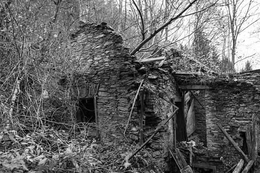 Ruin, Hut, Remains Of A Wall, Destroyed, Stone, Decay