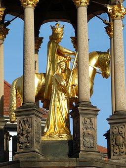 Sculpture, Golden, Magdeburger Reiter, Magdeburg