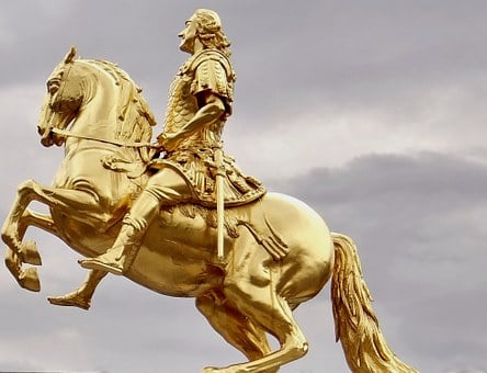 Golden Rider, Dresden, Monument, Prince-elector