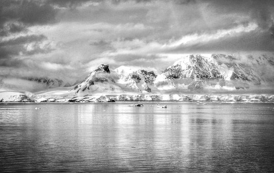 Antarctica, Black And White, Nature, Ice, South, Pole