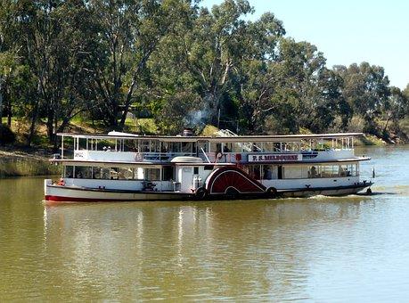 Paddle Steamer, Paddle Boat, Riverboat, Paddle, Steamer