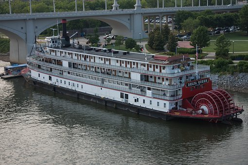 Paddle Steamer, Riverboat, River, Chattanooga
