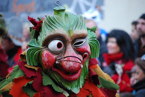 Mask, Parade, Carnival, Shrovetide, Germany, Wink