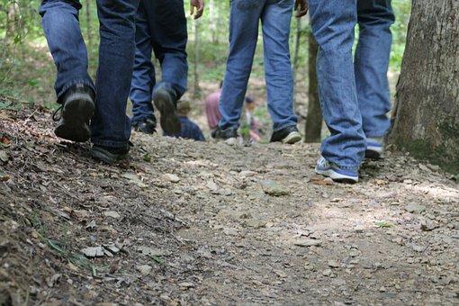 Feet, Walking, Hiking, Trails, Woods, Foot, Person