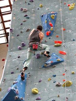 Climber, Man, Force, Rise, Climbing Wall, Climb