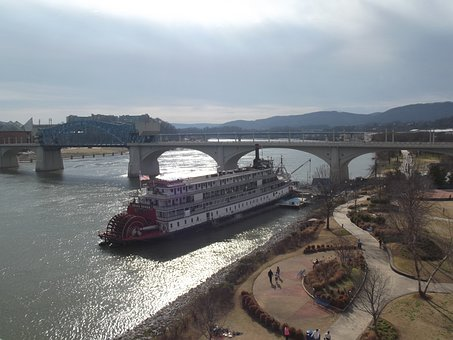 Delta, Queen, Tennessee, Chattanooga, River, Riverboat