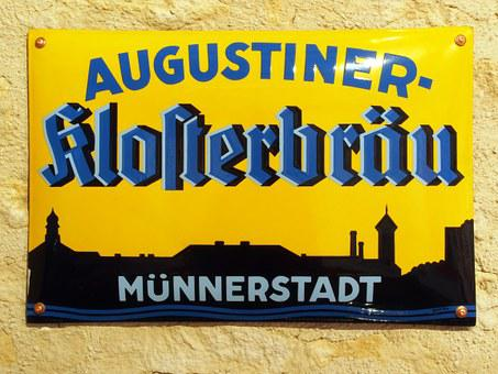 Augustiner Klosterbräu, Münnerstadt, Advertising, Sign