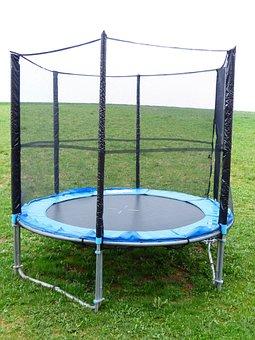 Trampoline, Sports Equipment, Sport, Jump, Safety Net