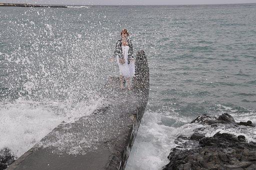 Wave, Water, Fun, Spray, Sea, Ocean, Petra Söhner