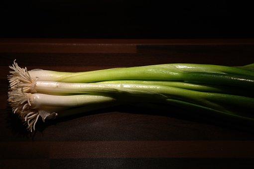 Winter Onion, Leek, Root, Stalk, Vegetables, Crop