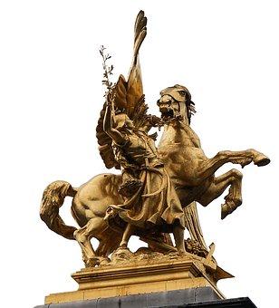 Paris, Still Image, Horse, Monument, Gilded