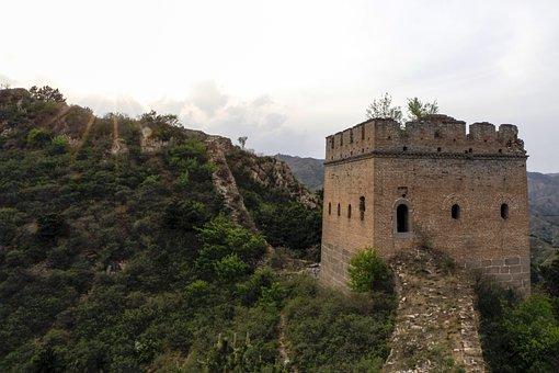 Wu Gou Wall, The Great Wall, Beacon, China, Asia