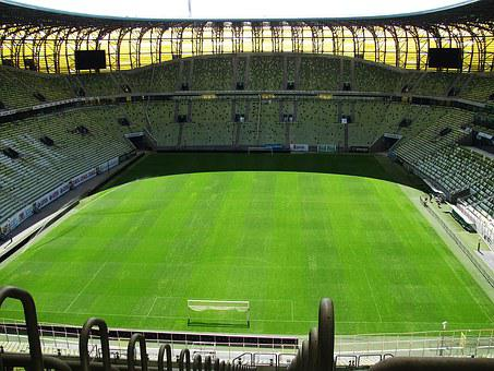 Stadion, The Pitch, Match, Football, Game, Sport, Grass