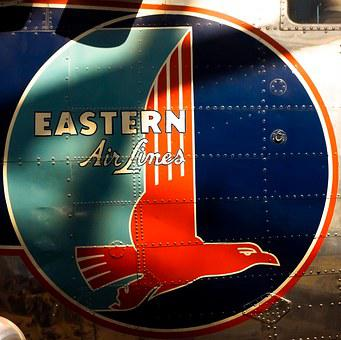 Eastern Airlines, Airline, Logo, Transportation, Sign