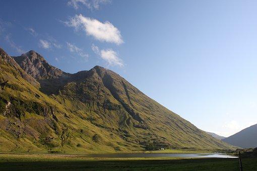 Glen Coe, Lochan, Valley, Hill, Landscape, Mountain