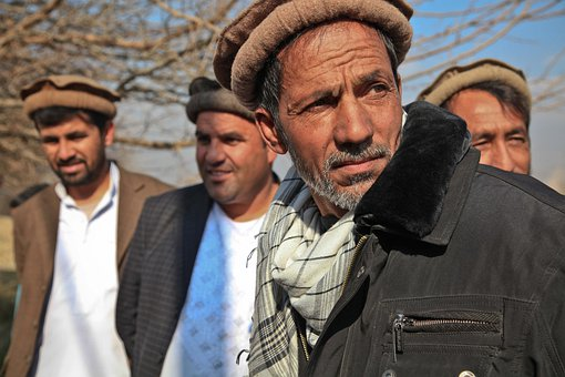 Man, Portrait, Afghanistan, Village Elders, Men