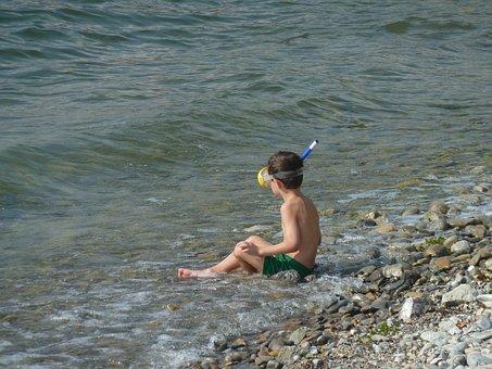Beach, Lake Constance, Lake, Bank, Water