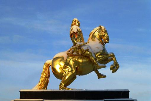 Golden Rider, Monument, August The Strong, Winter