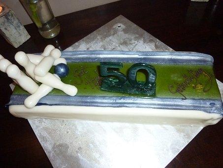 Cake, Cone Cake, 50, Birthday Cake, Delicious, Sweet
