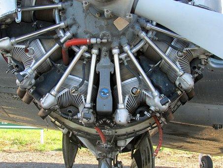 Beechcraft 18, Engine, Airplane, Aviation, Aircraft