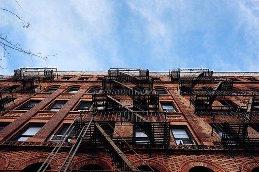 Architecture, Brick, Building, City, Fire Escape
