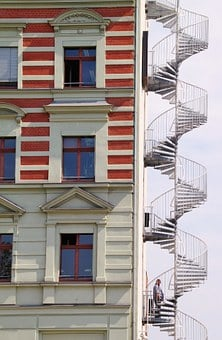 Spiral Staircase, Stairs, Fire Escape, Architecture