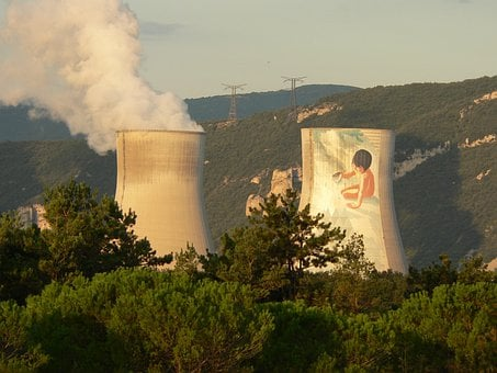 Nuclear Plant, Cruas, Ardèche, France, Nuclear Power