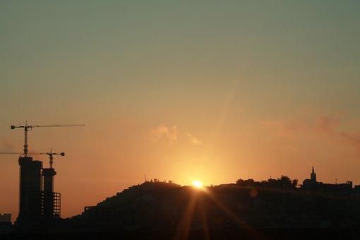 Rio De Jainero, Sunrise, Baukran, Hill