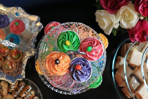 Cupcakes, Colors, Cake, Food, Dessert, Sweet, Birthday