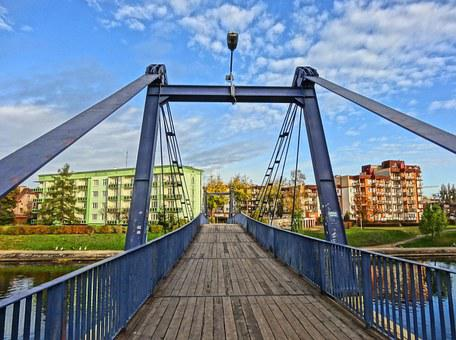 Esperanto Footbridge, Brda, Crossing, River, Path
