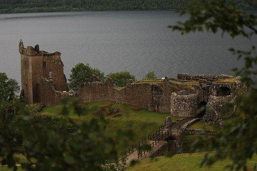 Scotland, Urquhart Castle, Loch Ness, Castle, Lake