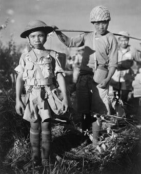 Child Soldiers, War, China, Chinese, Children, 1944