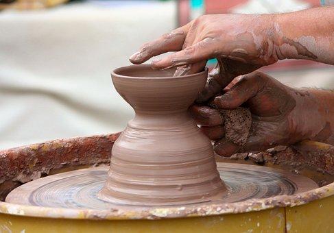 Potter's Wheel, Clay, Sculpt, Stoneware, Turn, Spin