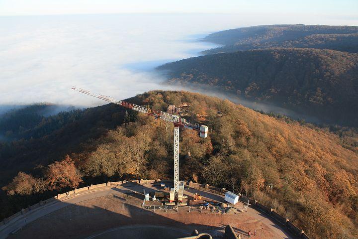 Baukran, Site, Construction Work, Cyrillic