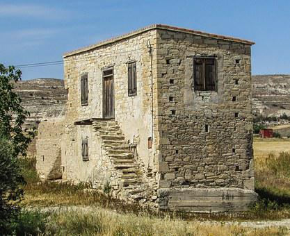 Cyprus, Avdellero, Old House, Stone Built, Traditional